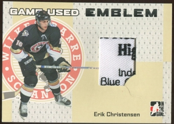 2006/07 ITG Heroes and Prospects #GUE12 Erik Christensen Game-Used Emblem /30