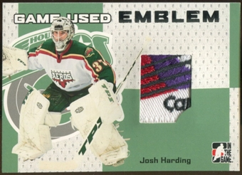 2006/07 ITG Heroes and Prospects #GUE15 Josh Harding Game-Used Emblem /30