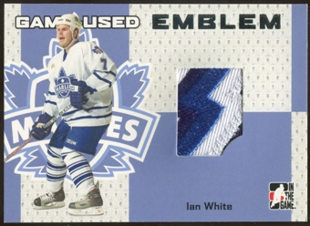 2006/07 ITG Heroes and Prospects #GUE16 Ian White Game-Used Emblem /30