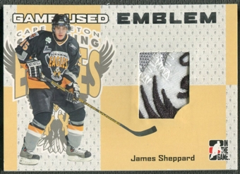 2006/07 ITG Heroes and Prospects #GUE47 James Sheppard Game-Used Emblem /30
