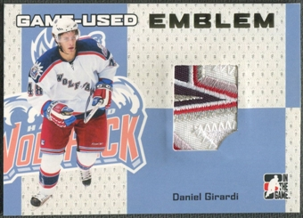 2006/07 ITG Heroes and Prospects #GUE04 Daniel Girardi Gold Game-Used Emblem /10