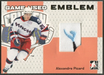 2006/07 ITG Heroes and Prospects #GUE27 Alexandre Picard Gold Game-Used Emblem /10