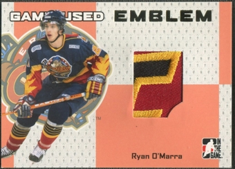 2006/07 ITG Heroes and Prospects #GUE45 Ryan O'Marra Gold Game-Used Emblem /10