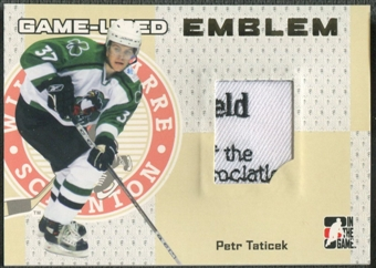 2006/07 ITG Heroes and Prospects #GUE55 Petr Taticek Gold Game-Used Emblem /10