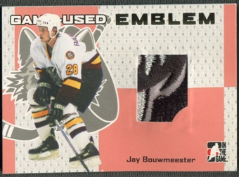 2006/07 ITG Heroes and Prospects #GUE60 Jay Bouwmeester Gold Game-Used Emblem /10