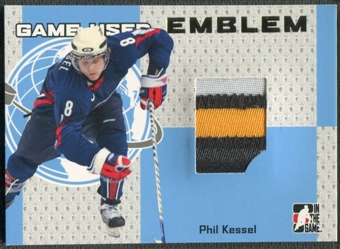 2006/07 ITG Heroes and Prospects #GUE61 Phil Kessel Gold Game-Used Emblem /10