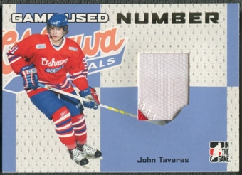 2006/07 ITG Heroes and Prospects #GUN34 John Tavares Gold Game-Used Number /10