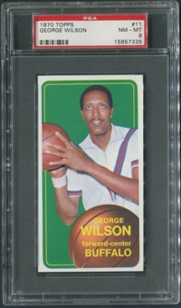 1970/71 Topps Basketball #11 George Wilson Rookie PSA 8 (NM-MT)