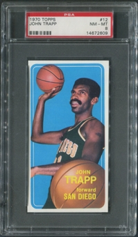 1970/71 Topps Basketball #12 John Trapp PSA 8 (NM-MT)