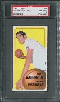 1970/71 Topps Basketball #14 Jim Washington PSA 8 (NM-MT)