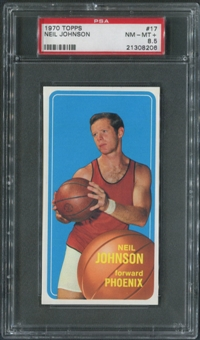 1970/71 Topps Basketball #17 Neil Johnson PSA 8.5 (NM-MT+)
