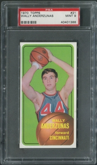 1970/71 Topps Basketball #21 Wally Anderzunas PSA 9 (MINT)