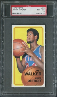 1970/71 Topps Basketball #25 Jimmy Walker PSA 8 (NM-MT)