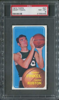 1970/71 Topps Basketball #27 Henry Finkel PSA 8 (NM-MT)