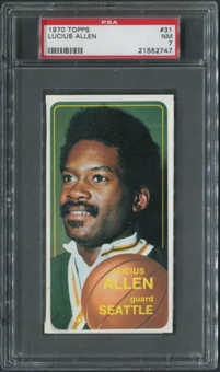 1970/71 Topps Basketball #31 Lucius Allen SP PSA 7 (NM)