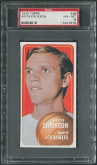 1970/71 Topps Basketball #38 Keith Erickson PSA 8 (NM-MT)