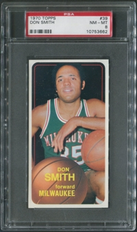 1970/71 Topps Basketball #39 Don Smith PSA 8 (NM-MT)