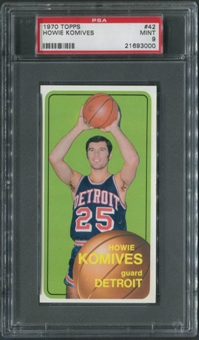 1970/71 Topps Basketball #42 Howie Komives PSA 9 (MINT)