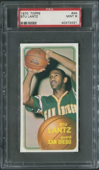 1970/71 Topps Basketball #44 Stu Lantz Rookie PSA 9 (MINT)