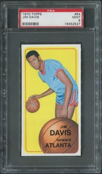 1970/71 Topps Basketball #54 Jim Davis PSA 9 (MINT)
