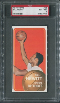 1970/71 Topps Basketball #56 Bill Hewitt PSA 8 (NM-MT)