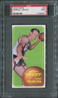 1970/71 Topps Basketball #57 Darrall Imhoff PSA 9 (MINT)