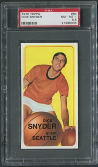 1970/71 Topps Basketball #64 Dick Snyder PSA 8.5 (NM-MT+)