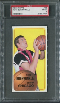 1970/71 Topps Basketball #68 Tom Boerwinkle PSA 9 (MINT)