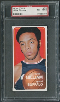 1970/71 Topps Basketball #73 Herm Gilliam PSA 8 (NM-MT)