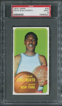 1970/71 Topps Basketball #78 Dave Stallworth SP PSA 9 (MINT)