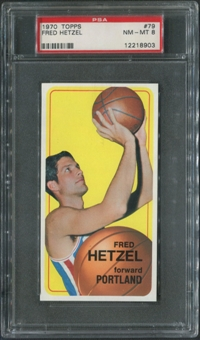 1970/71 Topps Basketball #79 Fred Hetzel PSA 8 (NM-MT)