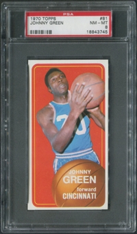 1970/71 Topps Basketball #81 Johnny Green Rookie PSA 8 (NM-MT)