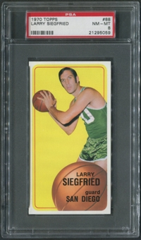 1970/71 Topps Basketball #88 Larry Siegfried PSA 8 (NM-MT)
