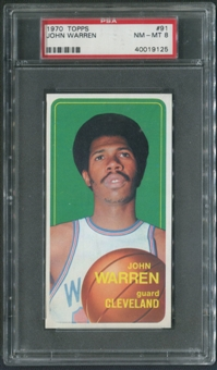1970/71 Topps Basketball #91 John Warren PSA 8 (NM-MT)