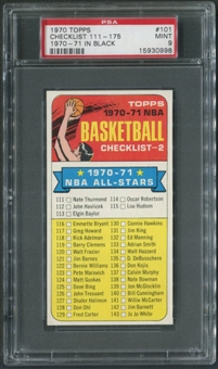 1970/71 Topps Basketball #101 Checklist 111-175 PSA 9 (MINT)