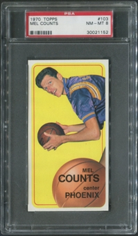 1970/71 Topps Basketball #103 Mel Counts PSA 8 (NM-MT)