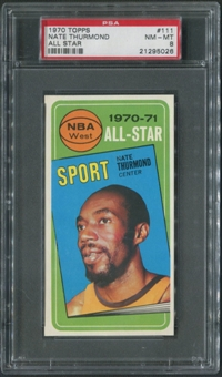 1970/71 Topps Basketball #111 Nate Thurmond All Star PSA 8 (NM-MT)
