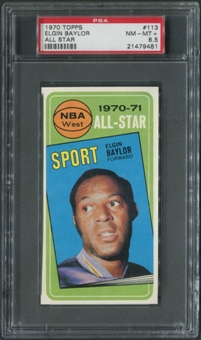 1970/71 Topps Basketball #113 Elgin Baylor All Star PSA 8.5 (NM-MT+)