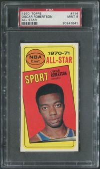 1970/71 Topps Basketball #114 Oscar Robertson All Star PSA 9 (MINT)