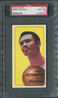 1970/71 Topps Basketball #117 Greg Howard PSA 8 (NM-MT)