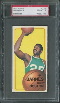 1970/71 Topps Basketball #121 Jim Barnes Rookie PSA 8 (NM-MT)
