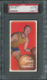 1970/71 Topps Basketball #131 Jim King PSA 8 (NM-MT)