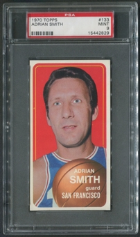 1970/71 Topps Basketball #133 Adrian Smith PSA 9 (MINT)