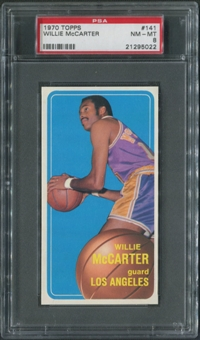 1970/71 Topps Basketball #141 Willie McCarter PSA 8 (NM-MT)