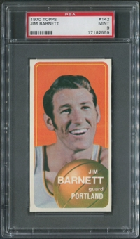 1970/71 Topps Basketball #142 Jim Barnett PSA 9 (MINT)