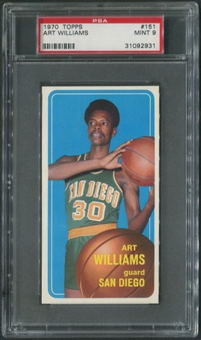 1970/71 Topps Basketball #151 Art Williams PSA 9 (MINT)