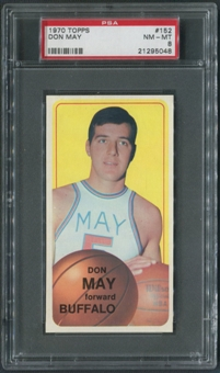 1970/71 Topps Basketball #152 Don May PSA 8 (NM-MT)