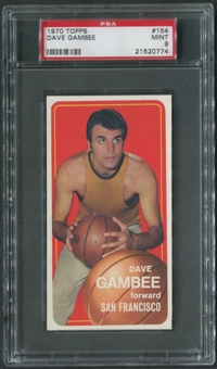 1970/71 Topps Basketball #154 Dave Gambee PSA 9 (MINT)