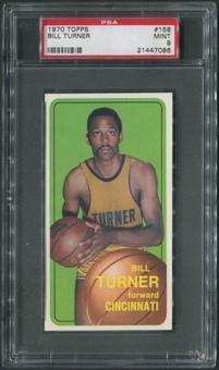 1970/71 Topps Basketball #158 Bill Turner PSA 9 (MINT)