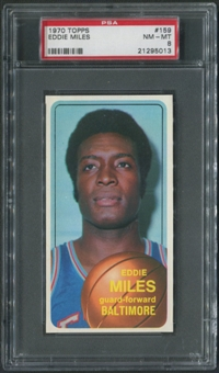 1970/71 Topps Basketball #159 Eddie Miles PSA 8 (NM-MT)